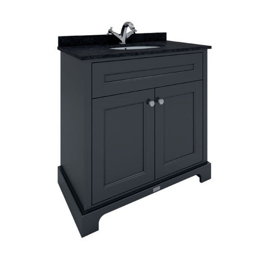 RAK Washington 800mm Traditional Floor Standing 2-Door Basin Vanity Unit - Black