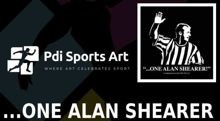 Alan Shearer print - The Story behind visual