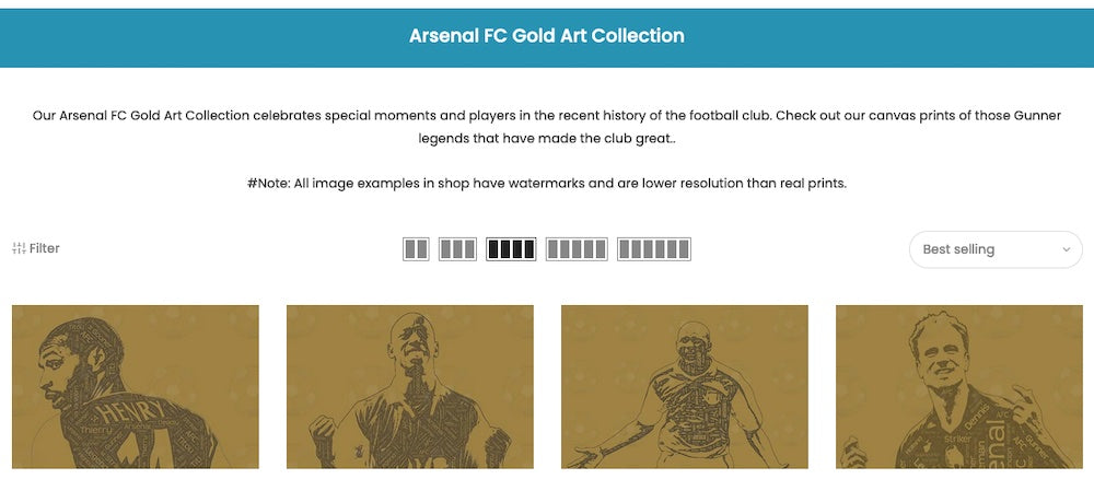 Arsenal FC Gold Collection