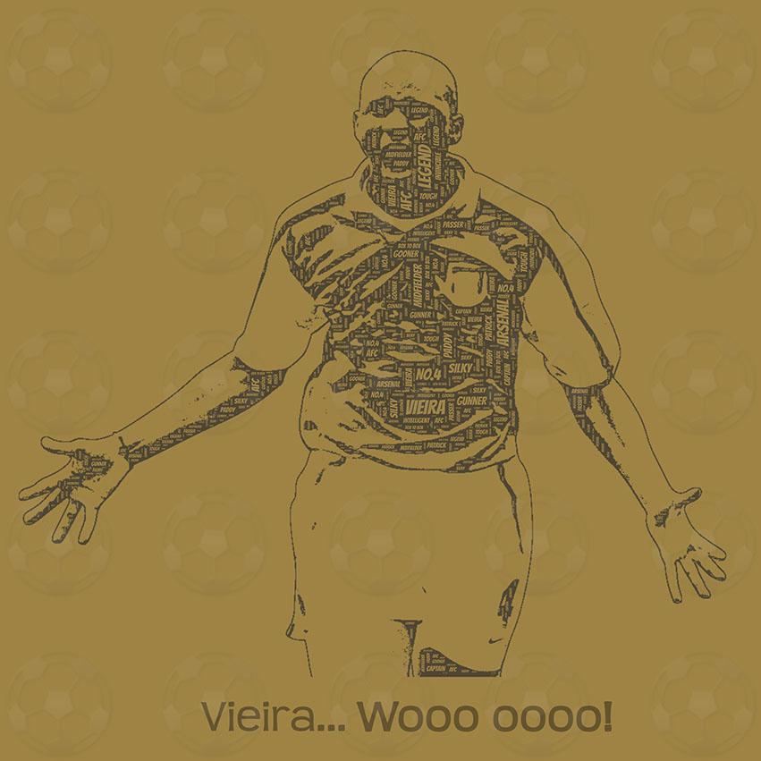 Patrick Vieira square canvas - PDI Sports Art