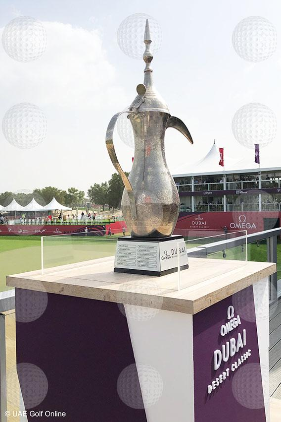 Dubai Desert Classic trophy side print - PDI Sports Art
