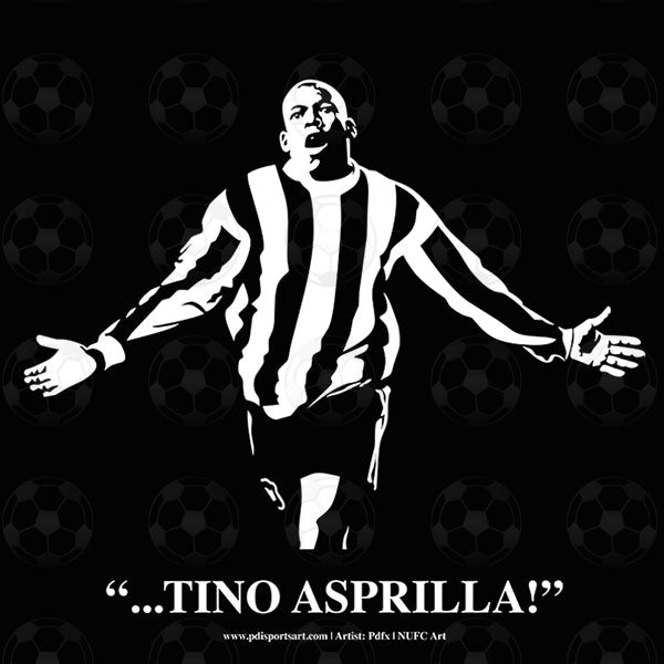 Newcastle United Art - Tino Asprilla