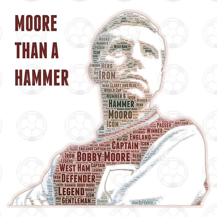 Bobby Moore canvas print - PDI Sports Art