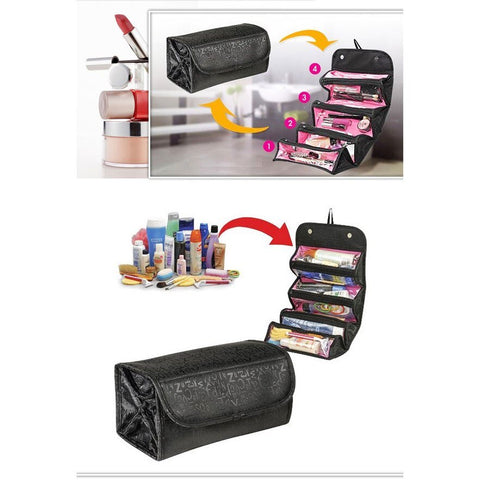 Roll Up Travel Cosmetic Bag Set of 2