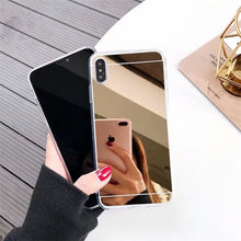 Load image into Gallery viewer, Mirror soft silicone phone case for samsung galaxy A10 A20 A30 A40 A50 A70 M10 M20 luxury tpu rubber coque cases back cover Capa