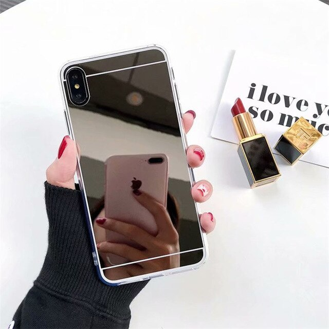 Mirror soft silicone phone case for samsung galaxy A10 A20 A30 A40 A50 A70 M10 M20 luxury tpu rubber coque cases back cover Capa