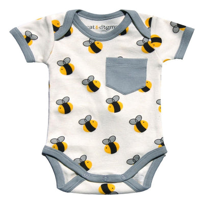 Cat & Dogma Bee Onesie