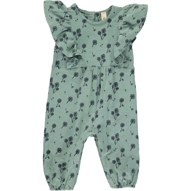 Gracie Long Sleeve Romper (Teal)