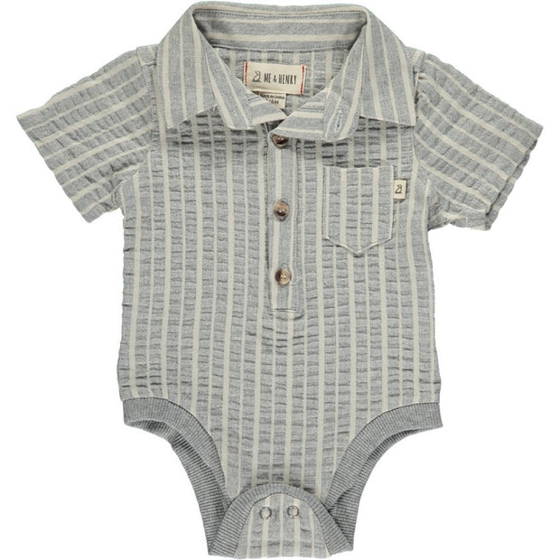 Grey Stripe Onesie