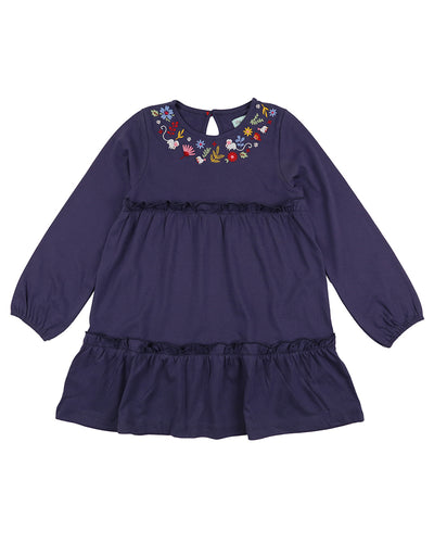 Lilly & Sid Flower Neck Tiered Dress