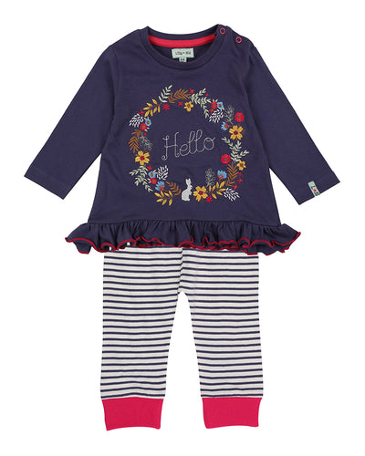 Lilly & Sid Hello Dress & Leggings Set