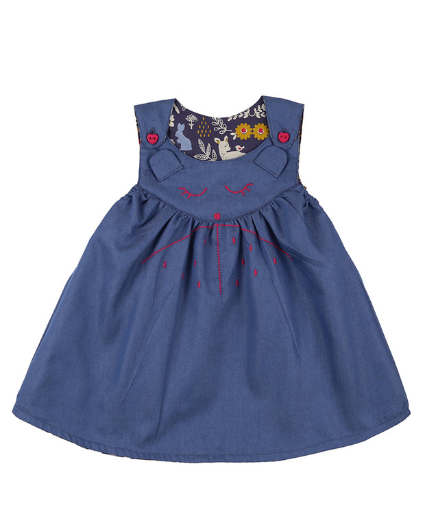 Lilly & Sid Reversible Bear Pinafore Dress
