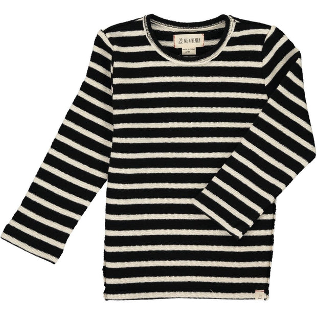ME & HENRY Black/Cream Stripe Sweater