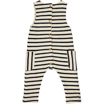 ME & HENRY Cream Stripe Jersey Playsuit