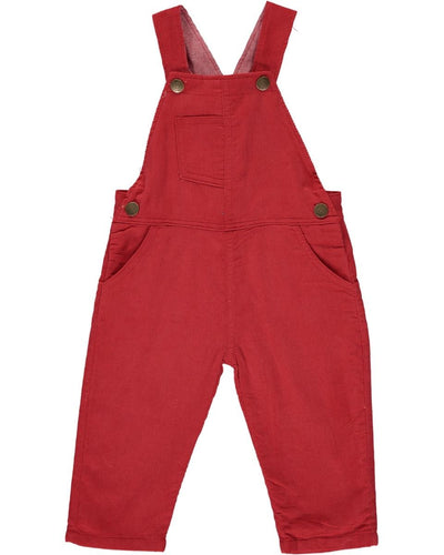 ME & HENRY Red Corduroy Overalls