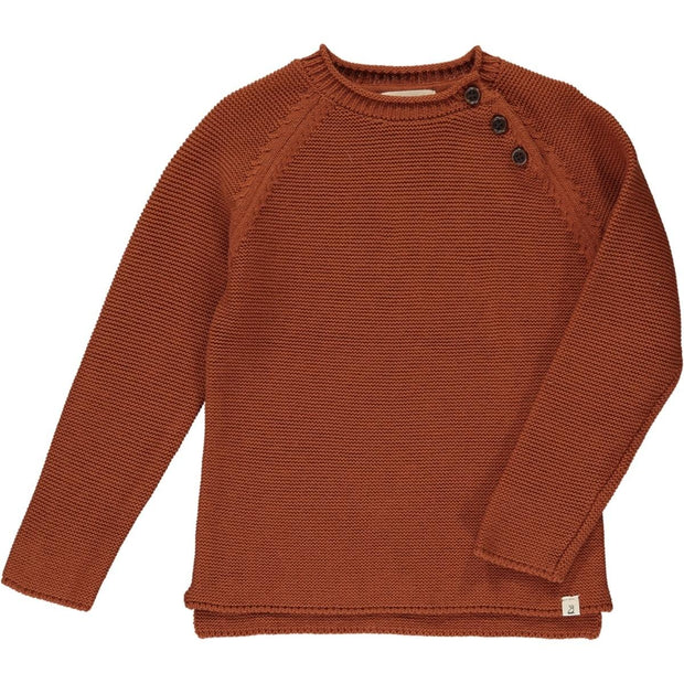 ME & HENRY Rust Cotton Sweater