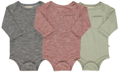 ME & HENRY Triple Pack Micro Stripe Long Sleeve Onesies