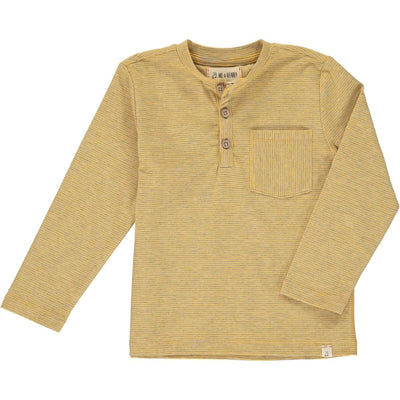 ME & HENRY Yellow Stripe Long Sleeve Henley