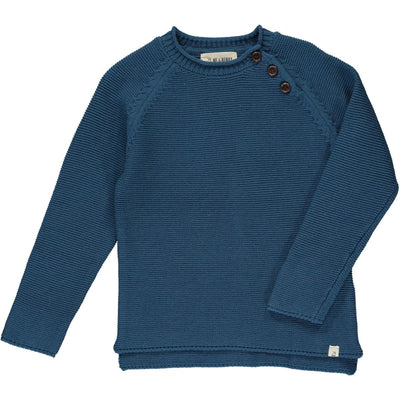 ME & HENRY Blue Cotton Sweater