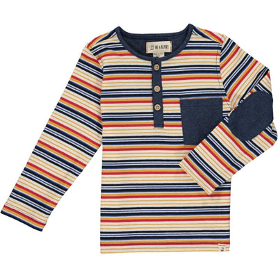 ME & HENRY Long Sleeve Multi Stripe Henley