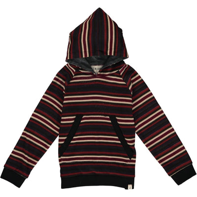 Me & Henry Multi Stripe Hooded Shirt