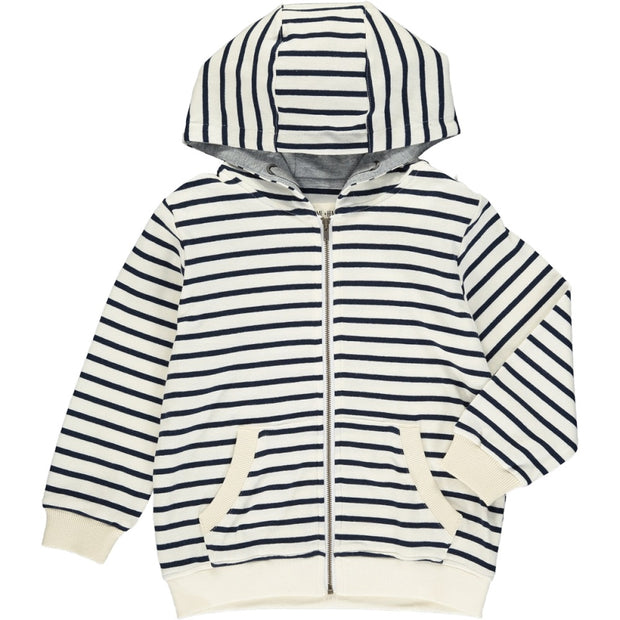 Navy Stripe Hooded Jacket