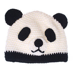 Playful Panda Hat - Wool Knit
