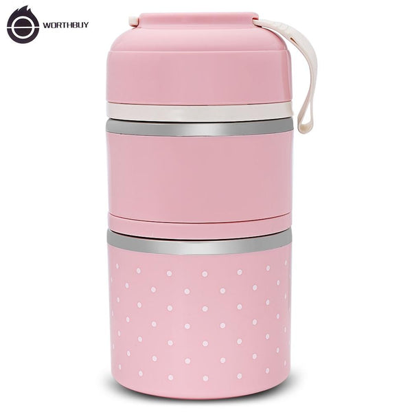 Japanese Stainless Steel Thermal Lunch Box - The Luffy Store