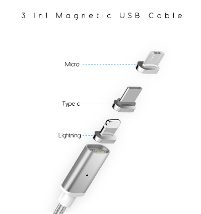 Magnetic Charging USB Cable - The Luffy Store