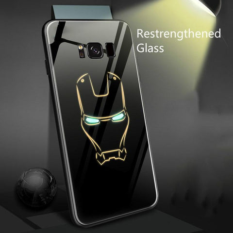 Luminous Tempered Glass Case for Samsung Models - The Luffy Store