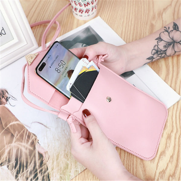 PU Leather Touchscreen Phone Wallet