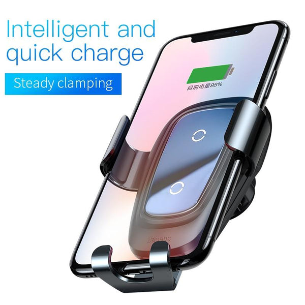 Baseus Qi Fast Car Wireless Charger 10 W - The Luffy Store