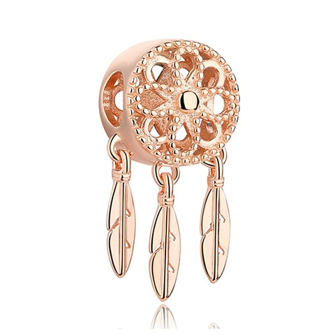 Rose Gold Dream Catcher 925 Sterling Silver