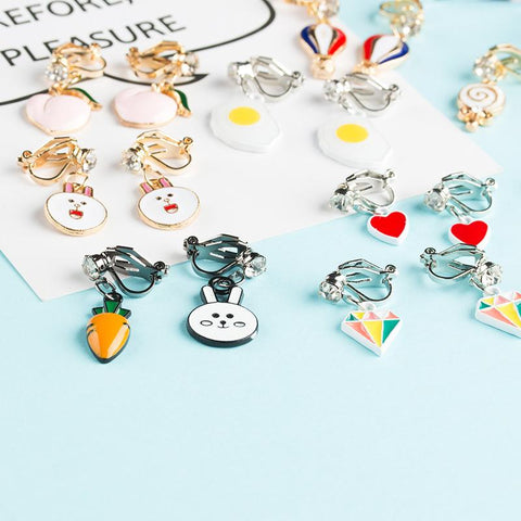 Assorted Clip on Earrings - The Luffy Store