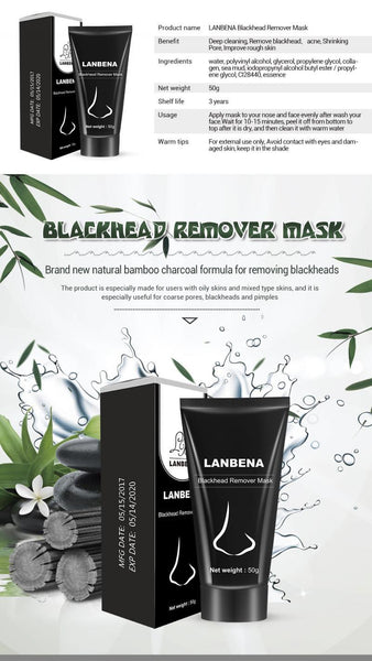 Lanbena Bamboo Charcoal Blackhead Remover Mask - The Luffy Store