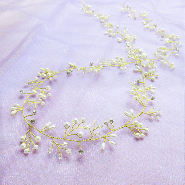 Crystal Pearl Bridal Headband - The Luffy Store
