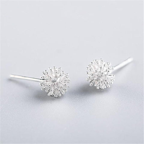Dandelion Stud 925 Sterling Silver Stud Earring - The Luffy Store