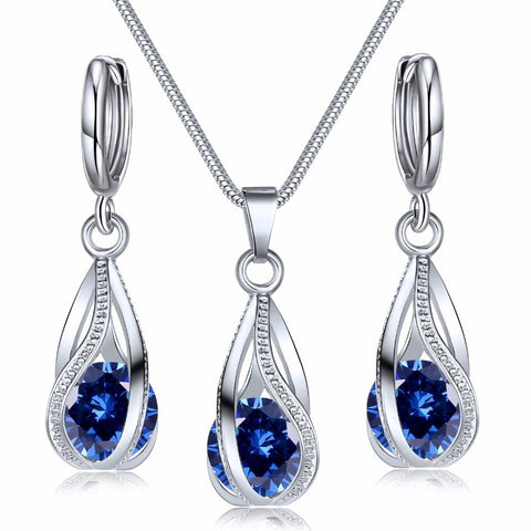 Cubic Zirconia Costume Jewellery Set - The Luffy Store
