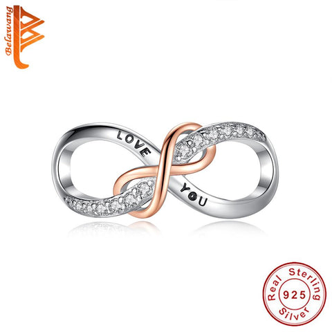 Double Infinity 925 Sterling Silver Charm - The Luffy Store