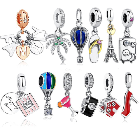 Travel Collection 925 Sterling Silver Charm