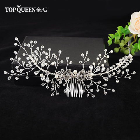 Floral Bridal Hair Comb - The Luffy Store