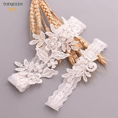 2 Piece Set Lace Embroidery Wedding Garters - The Luffy Store