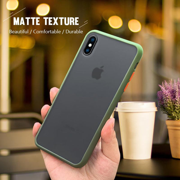 Shockproof Armor Matte Bumper Phone Case for iPhone 11 models - The Luffy Store