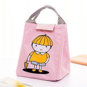 Portable Grid Pattern Lunch Bag - The Luffy Store