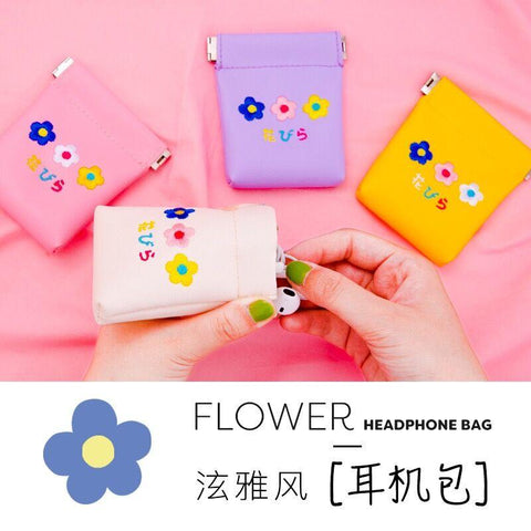 Embroidery Flower Earphone Holder - The Luffy Store