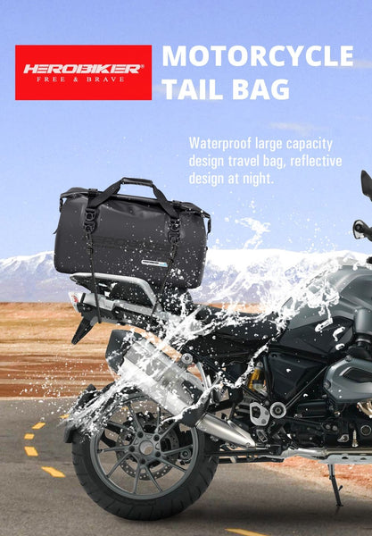 45 Litres Motorcycle Waterproof Rear Bag - The Luffy Store