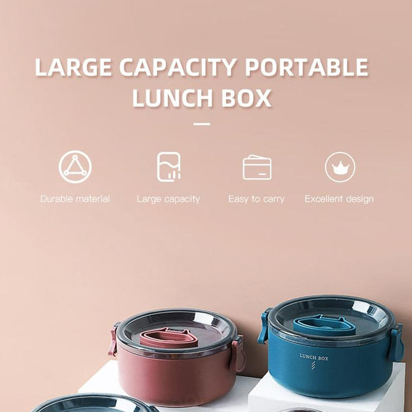Multi Layer Wheat Straw Microwavable Lunch Box - The Luffy Store