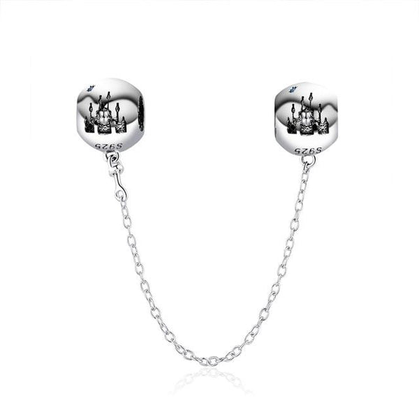 925 Sterling Silver Charms Safety Chain Charm - The Luffy Store