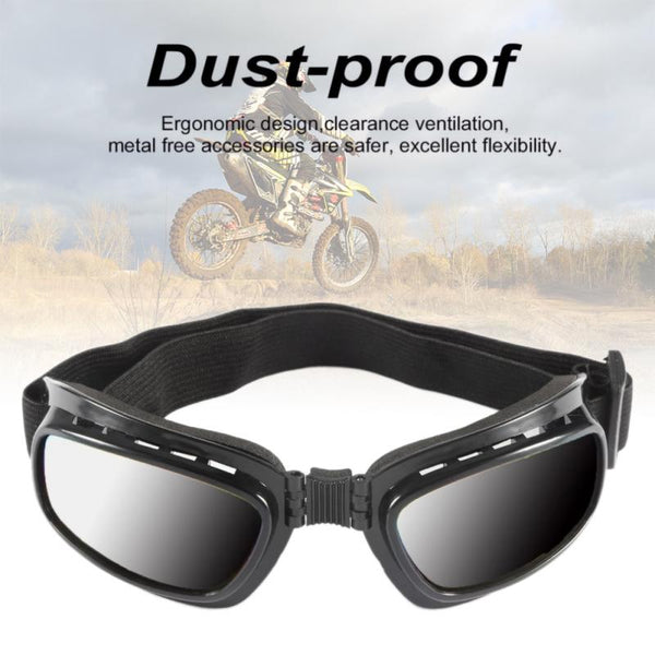 Foldable Windproof Motorcycle or Ski Goggles