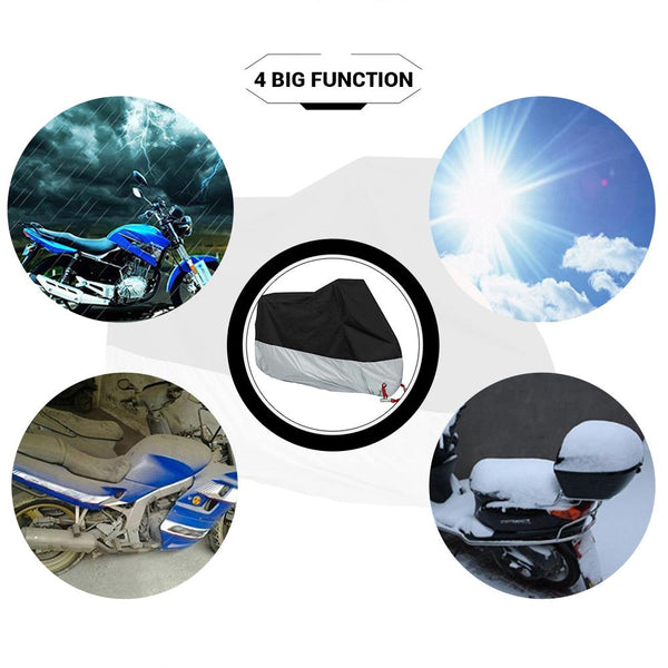 HEROBIKER Motorcycle All Season Protective Cover with Lock Holes - The Luffy Store